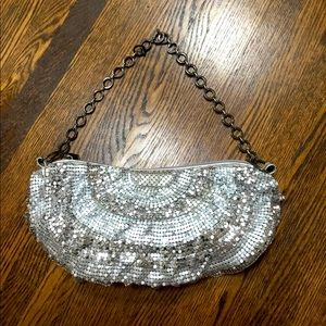 Silver Chainmail Bag